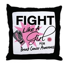 Licensed Fight Like a Girl 11.5 Throw Pillow