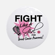 Licensed Fight Like a Girl 11.5 Ornament (Round)