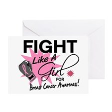 Licensed Fight Like a Girl 11.5 Greeting Card