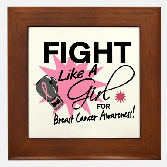Licensed Fight Like a Girl 11.5 Framed Tile