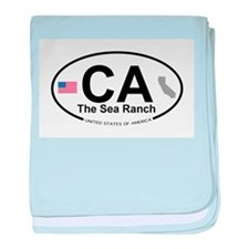 The Sea Ranch baby blanket