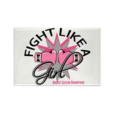 Licensed Fight Like a Girl 12.3 Rectangle Magnet