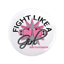 """Licensed Fight Like a Girl 12.3 3.5"""" Button"""