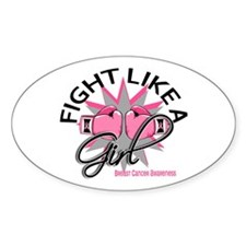 Licensed Fight Like a Girl 12.3 Decal
