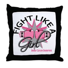 Licensed Fight Like a Girl 12.3 Throw Pillow