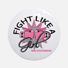 Licensed Fight Like a Girl 12.3 Ornament (Round)