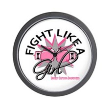 Licensed Fight Like a Girl 12.3 Wall Clock