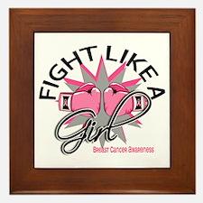 Licensed Fight Like a Girl 12.3 Framed Tile