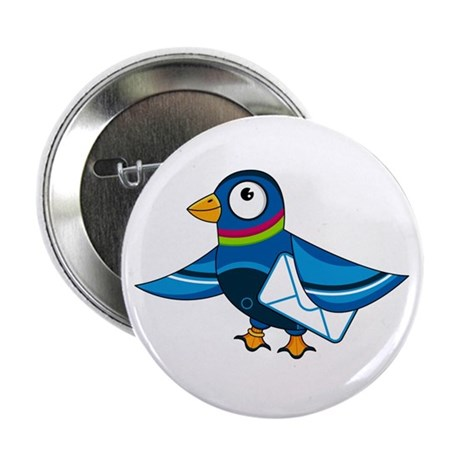 """Cute Mail Pigeon 2.25"""" Button (10 pack)"""