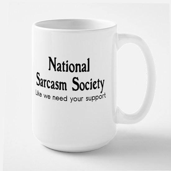 Funny Humor Unique Shirt Large Mug
