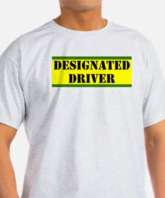 Designated Driver Ash Grey T-Shirt