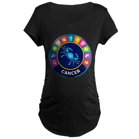 Cancer Sign Maternity Dark T-Shirt