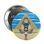 "Egyptian Queen Nefertiti 2.25"" Button"