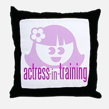 Actress-In-Training Design II Throw Pillow