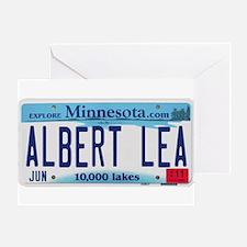 Albert Lea License Plate Greeting Card