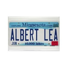 Albert Lea License Plate Rectangle Magnet