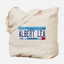 Albert Lea License Plate Tote Bag