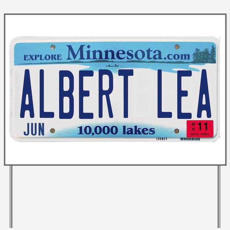 Albert Lea License Plate Yard Sign