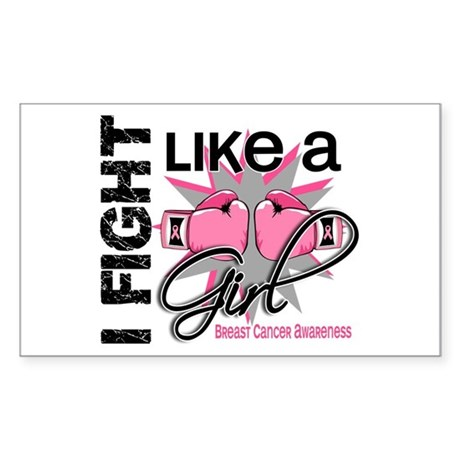 Licensed Fight Like a Girl 13. Sticker (Rectangle)