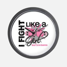 Licensed Fight Like a Girl 13.1 Wall Clock