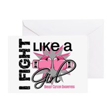 Licensed Fight Like a Girl 13.1 Greeting Card
