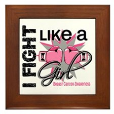 Licensed Fight Like a Girl 13.1 Framed Tile