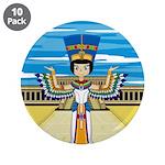 """Egyptian Queen Nefertiti 3.5"""" Button (10 pack"""