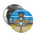 "Egyptian Queen Nefertiti 2.25"" Button (100 pa"