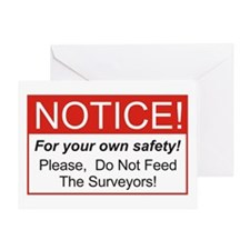 Notice / Surveyors Greeting Card