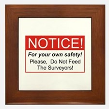 Notice / Surveyors Framed Tile