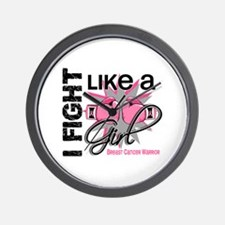 Licensed Fight Like a Girl 13.2 Wall Clock