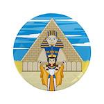 "Egyptian Queen Nefertiti 3.5"" Button"