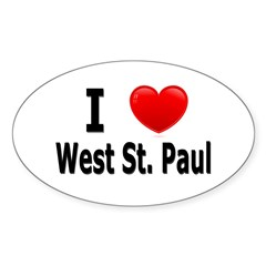 I Love West St. Paul Sticker (Oval 50 pk)