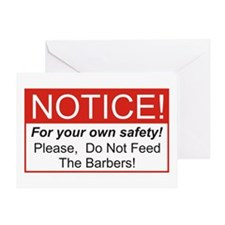 Notice / Barber Greeting Card