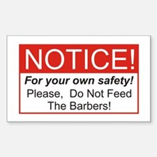 Notice / Barber Decal