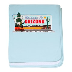 Welcome To Arizona baby blanket