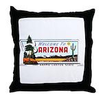 Welcome To Arizona Throw Pillow