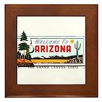 Welcome To Arizona Framed Tile