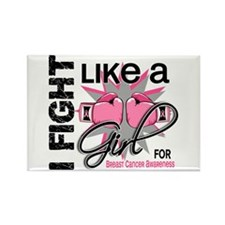 Licensed Fight Like a Girl 13.5 Rectangle Magnet