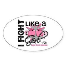 Licensed Fight Like a Girl 13.5 Decal