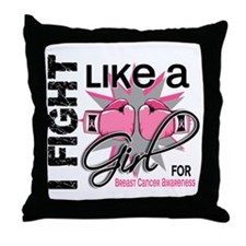 Licensed Fight Like a Girl 13.5 Throw Pillow