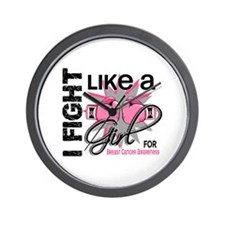 Licensed Fight Like a Girl 13.5 Wall Clock