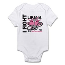 Licensed Fight Like a Girl 13.5 Infant Bodysuit
