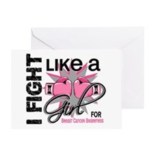 Licensed Fight Like a Girl 13.5 Greeting Card