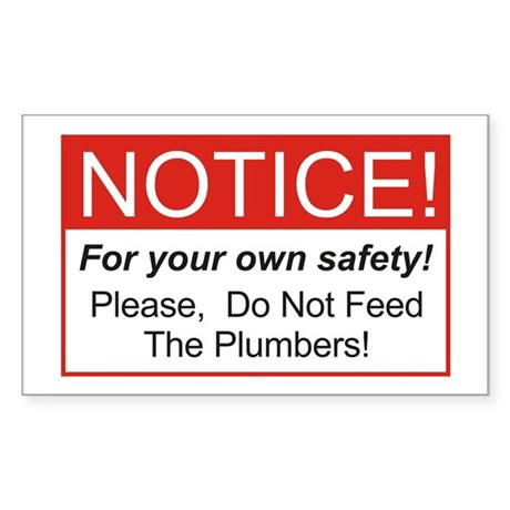 Notice / Plumbers Sticker (Rectangle)
