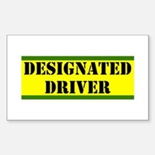 Designated Driver Rectangle Decal