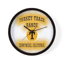 Turkey Track Ranch Wall Clock
