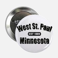 """West St. Paul Established 1889 2.25"""" Button"""