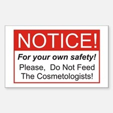 Notice / Cosmetologist Decal