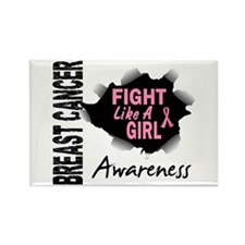 Licensed Fight Like a Girl 14.3 Rectangle Magnet